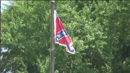 confederate flag outside statehouse in SC 1_15447