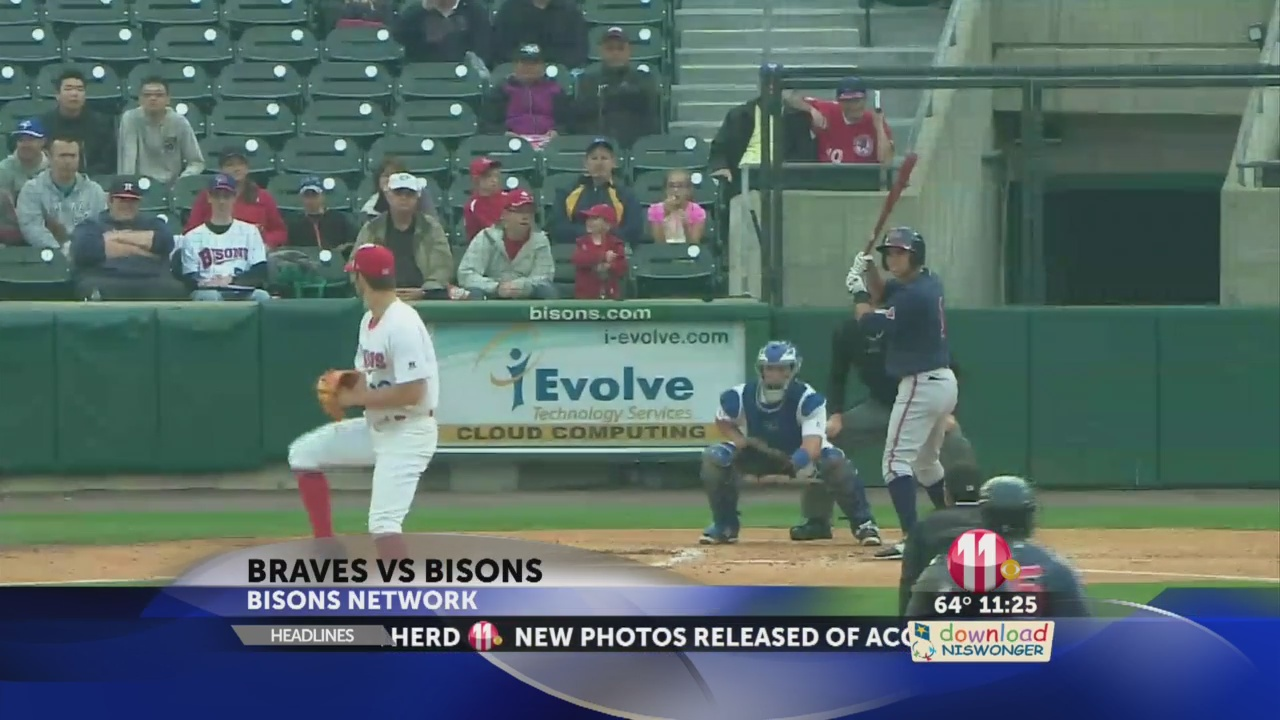 Bisons' starter Daniel Norris had a rough day on the hill for the Herd