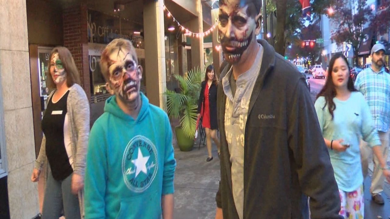 Zombies Take Over Downtown Bristol