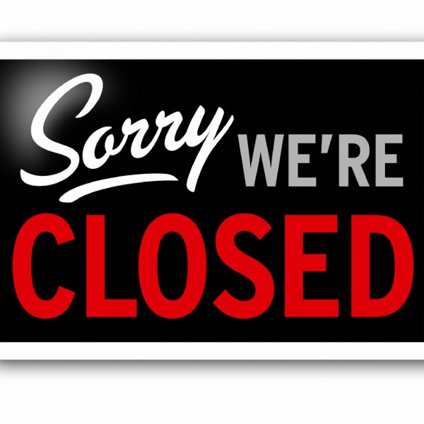 sorry we are closed_99059