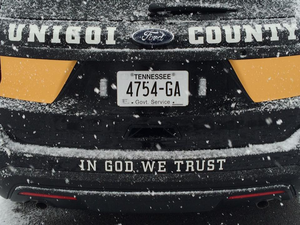 In God We Trust' featured on new Unicoi Co  Sheriff's Dept