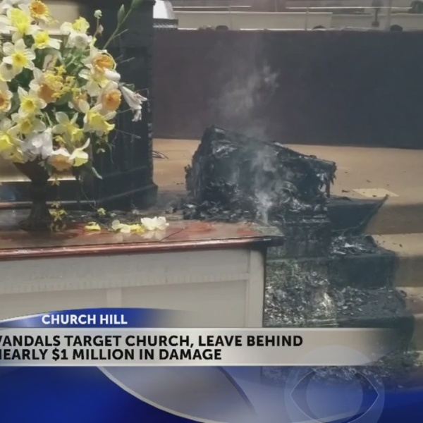 Church Hill, TN church vandalized, set on fire - resulting in $1 million in damages