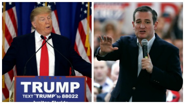 AP photos of Trump_Cruz_132983