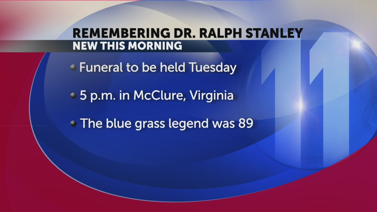 Funeral arrangements made for Dr. Ralph Stanley