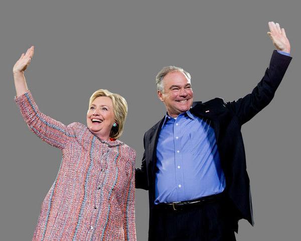 Hillary Clinton and Tim Kaine_185806