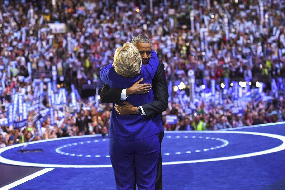 Hillary Clinton Hugs President Obama_188263