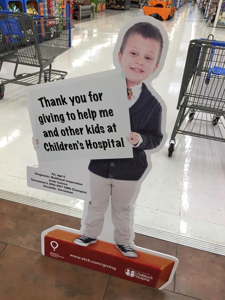 AJ Cucksey is an ambassador for East TN Children's Hospital.  Photo by Debbie Howard Watts