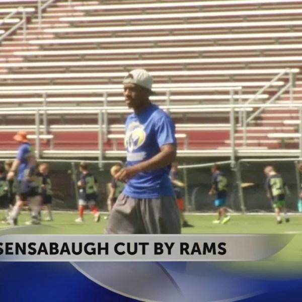 Former DB standout Sensabaugh cut by LA Rams