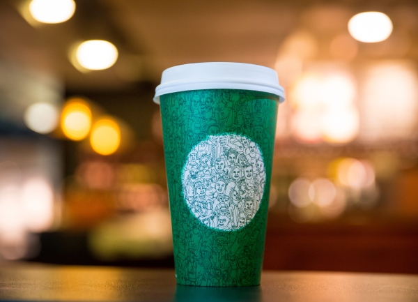Starbucks cup photographed on October 26, 2016. (Joshua Trujillo_Starbucks)_231748