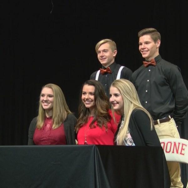 Five Daniel Boone Trailblazers student athletes put pen to paper