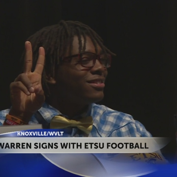 Austin-East WR/CB signs with East Tennessee State University football team