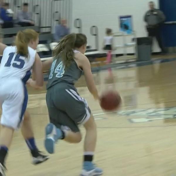 District 1-AA high school girls basketball tournament