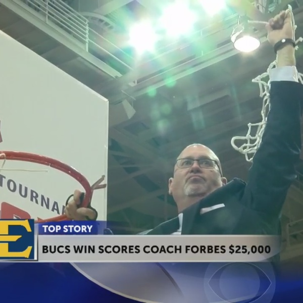 Coach Steve Forbes gets $25,000 bonus after ETSU win last night