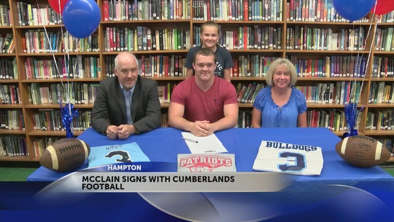Hampton's McClain signs with the Cumberlands football program