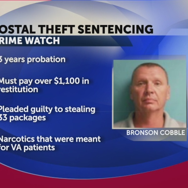 USPS contractor sentenced to three years probation, ordered to pay $1,154 in restitution