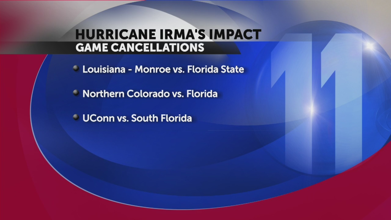Florida, Florida State cancel football games because of Irma