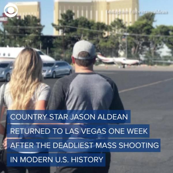 Jason Aldean visits Las Vegas a week after shooting