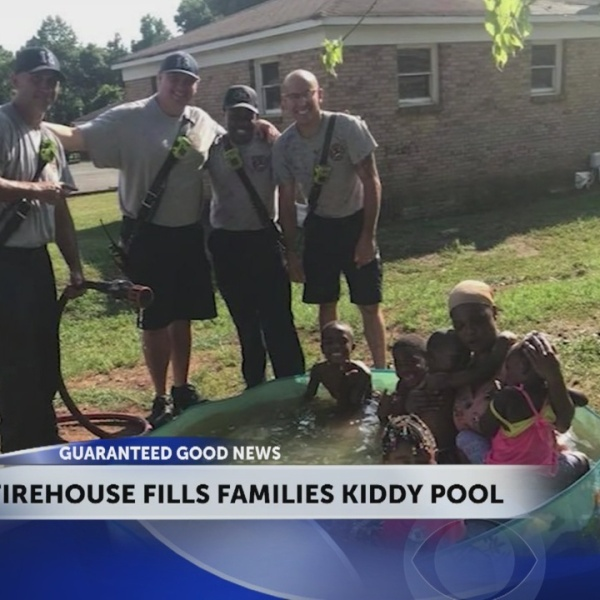 North Carolina firehouse fills up kiddy pool