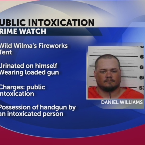 Fireworks tent worker arrested for public intoxication