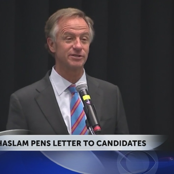Governor Haslam sends letter to those running for his job