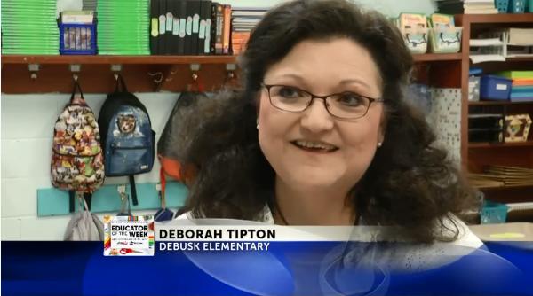 Deborah Tipton is Educator of the Week