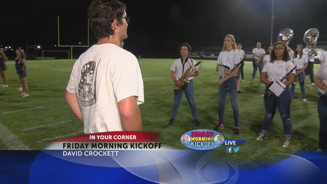 Friday Morning Kickoff: David Crockett High School Band Part 1