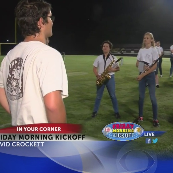 Friday Morning Kickoff: David Crockett High School Band Part 1