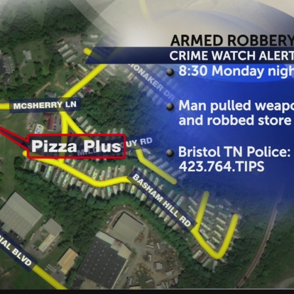 Bristol, TN police searching for pizza place robber