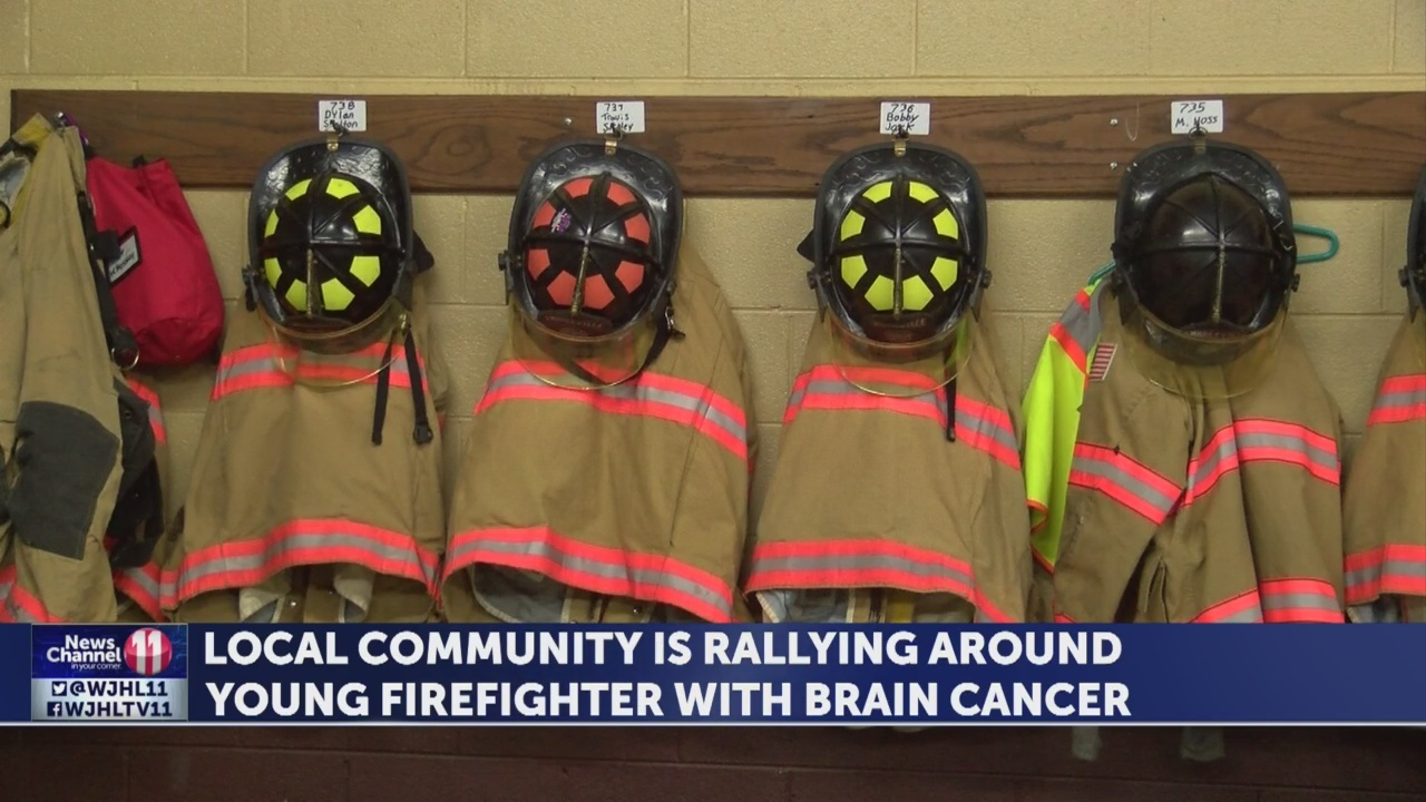 Community rallies around firefighter with brain cancer