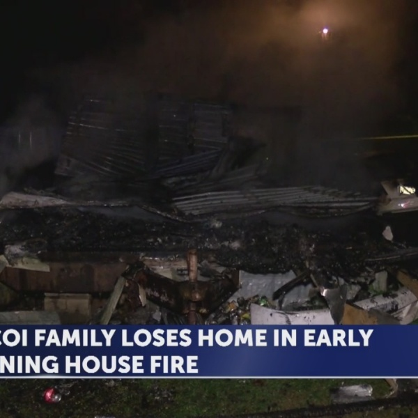 Unicoi County family without a home after fire