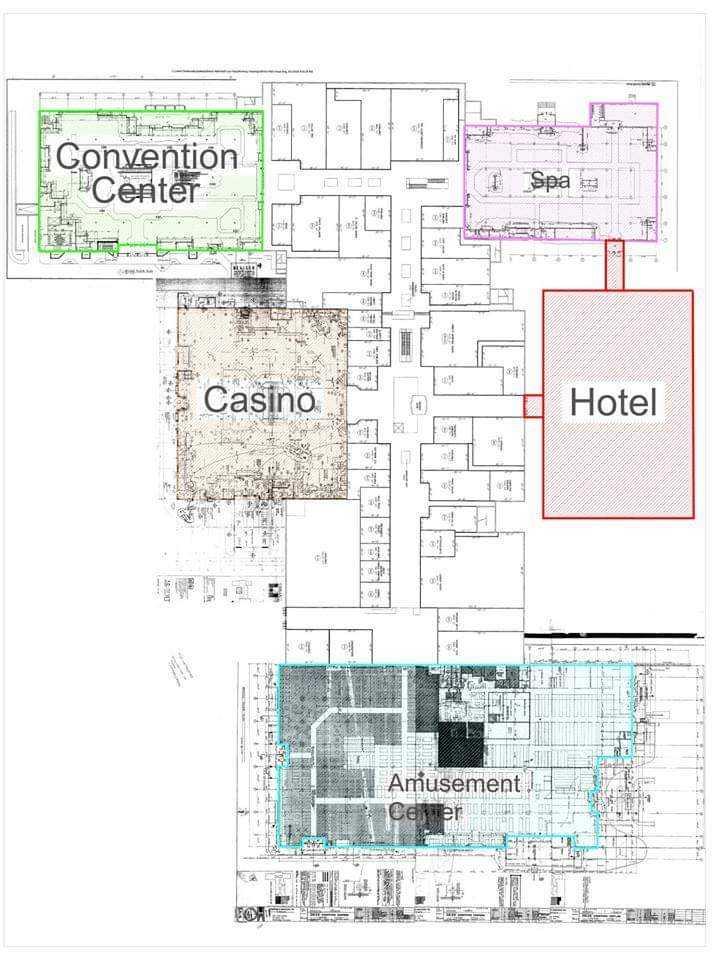 Site plans show interior of planned Bristol Resort & Casino