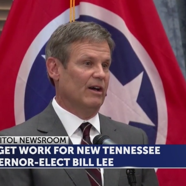 BUDGET WORK FOR NEW TENNESSEE GOVERNOR-ELECT BILL LEE