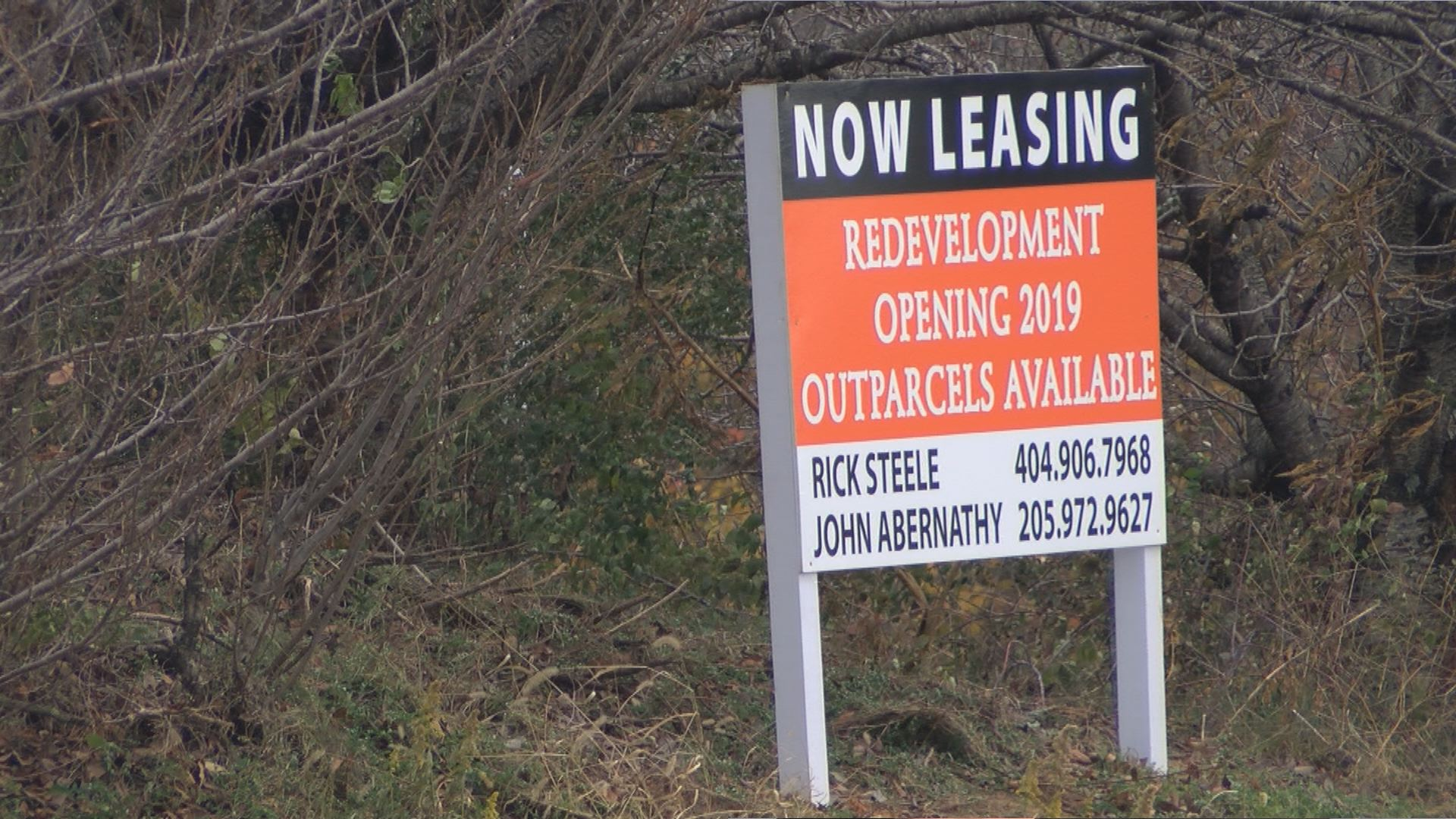 Redevelopment Opening 2019' sign seen outside old Johnson