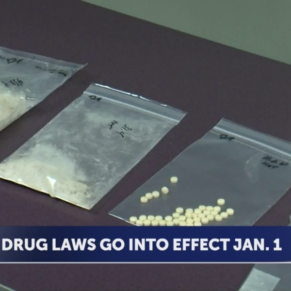 Drug laws going into effect Jan. 1