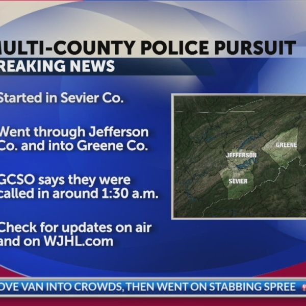 Early morning pursuit sends police through three counties