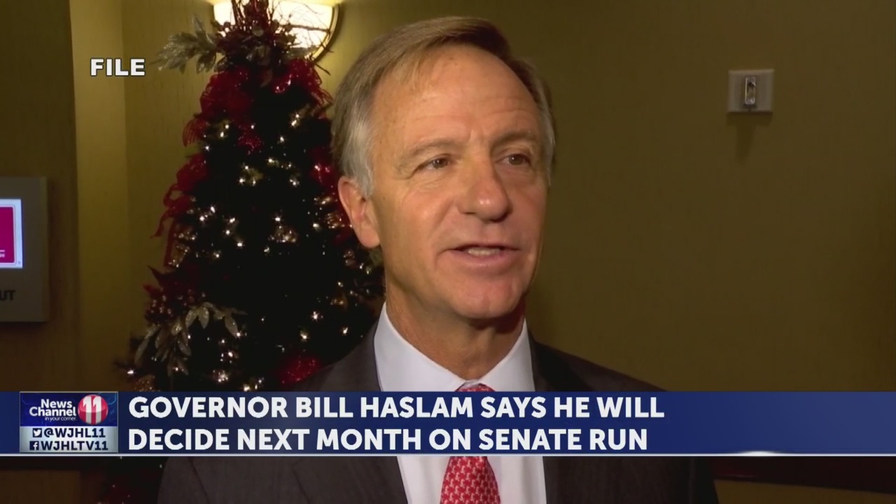 Governor Bill Haslam to decide next month on Senate run