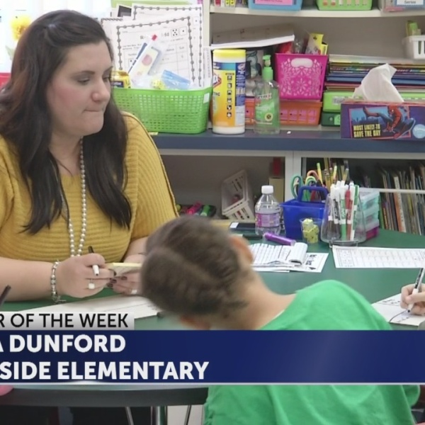 Sara Dunford is Educator of the Week