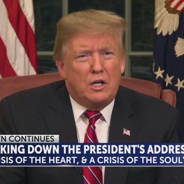 President Trump links drugs, violent crime to lack of border wall