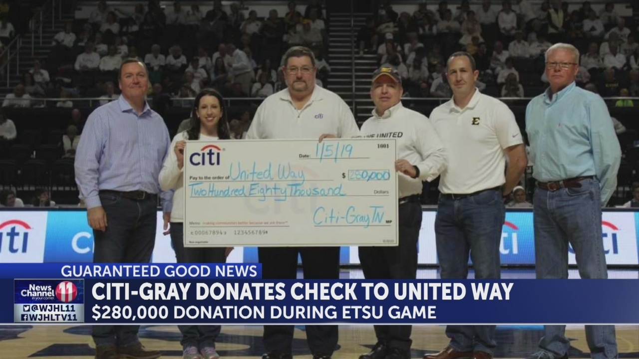 Washington County's United Way receives huge donation from CIti-Gray