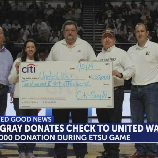 Washington County's United Way receives huge donation from CIti-Gray