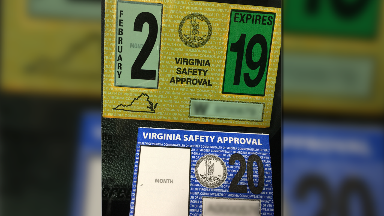 Virginia vehicle inspection stickers get makeover