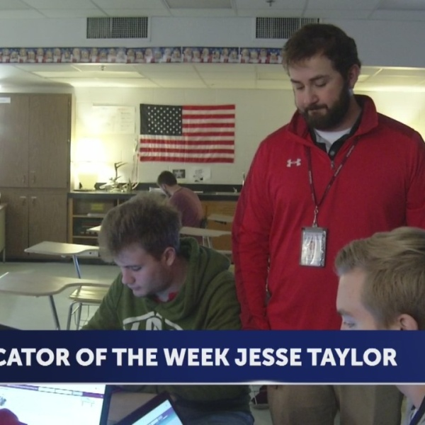 Jesse Taylor is Educator of the Week