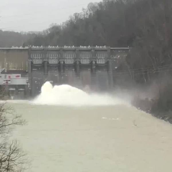 TVA video of water release at Boone Dam after heavy rains