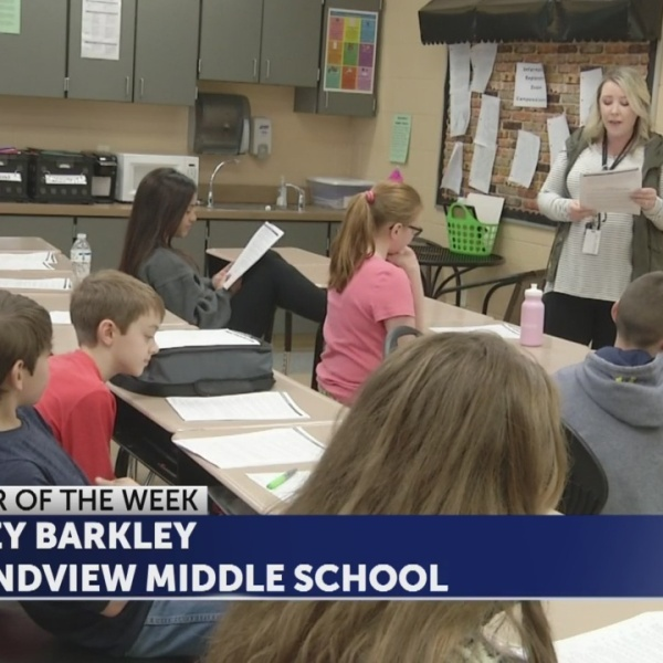Haley Barkley is Educator of the Week