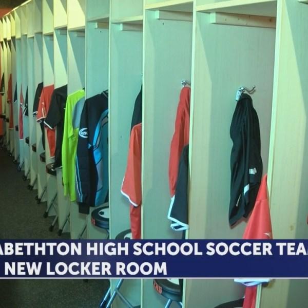 Students build locker room for Elizabethton High School soccer team