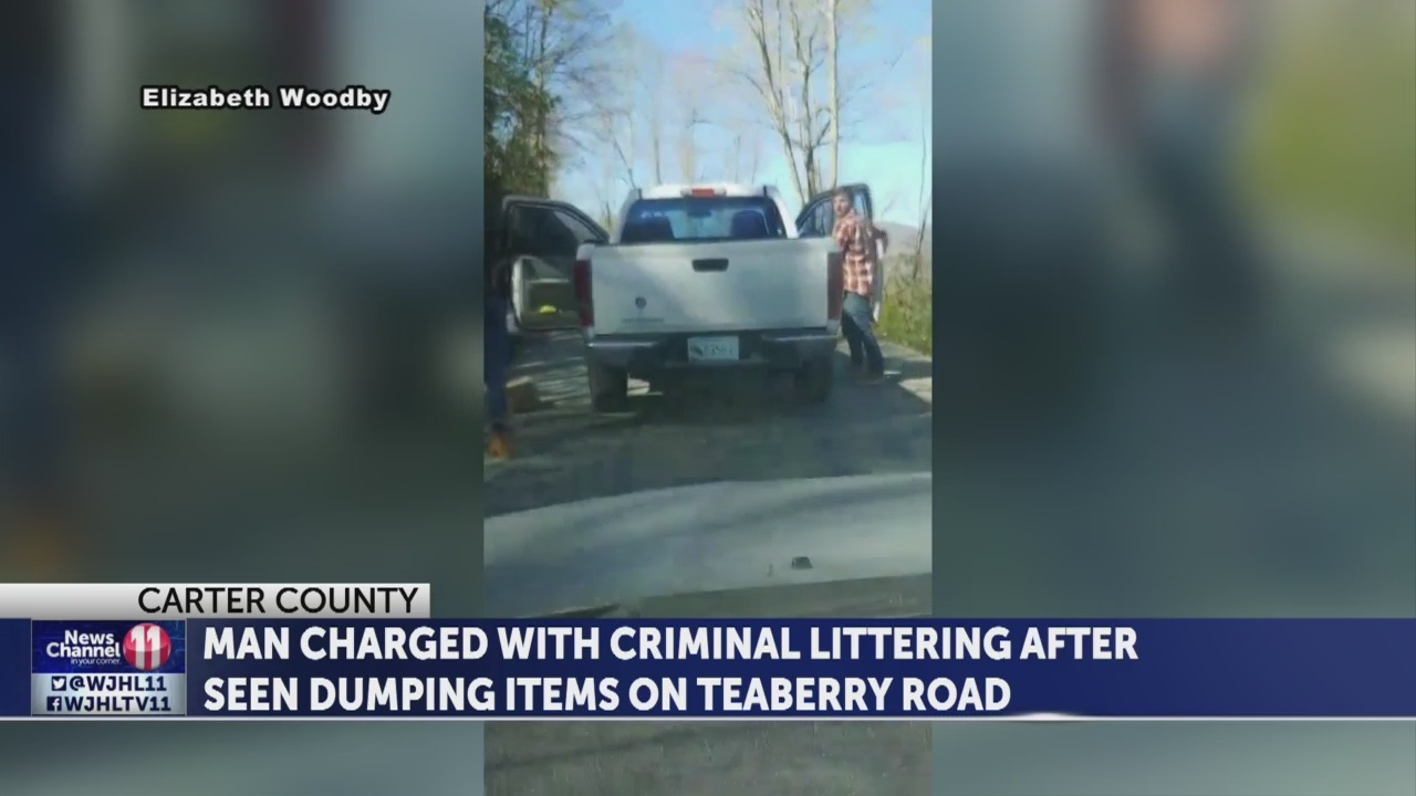 WATCH: Woman confronts men caught dumping in Carter County