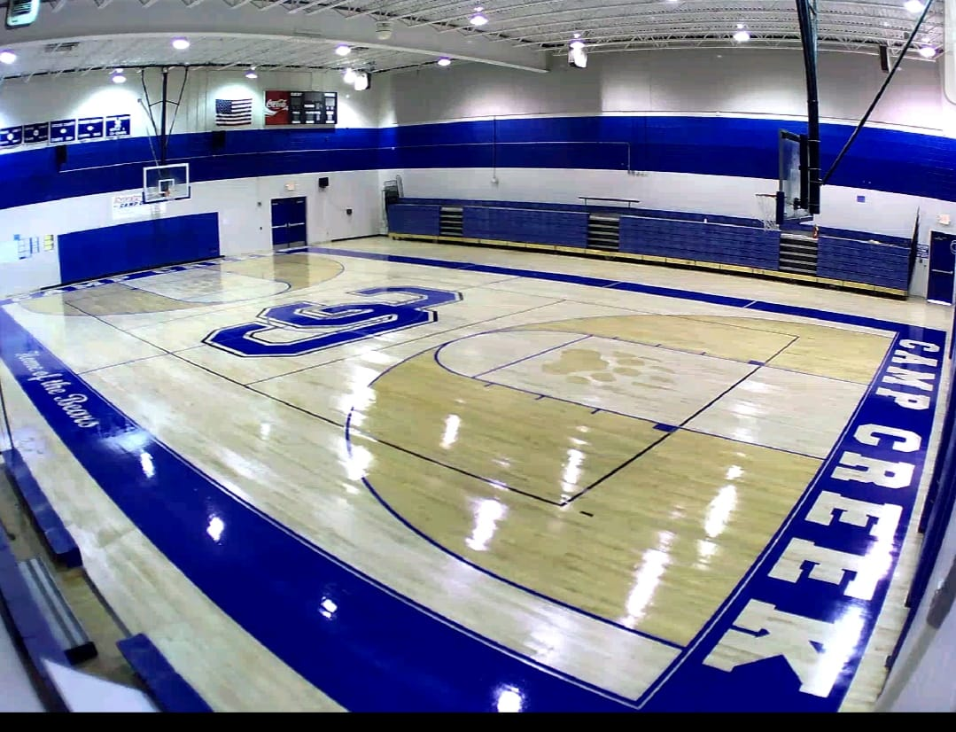 Camp Creek Elementary School making final touches to gym
