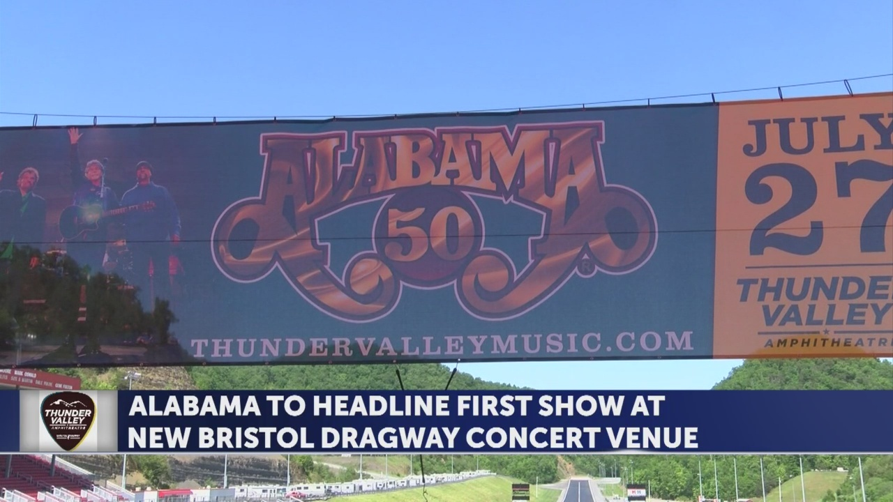 Alabama to headline first show at new Bristol Dragway concert venue