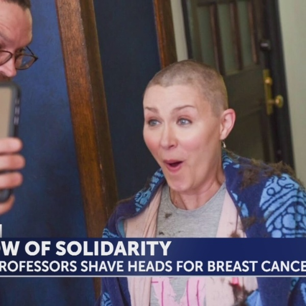 E&H professors show support by shaving heads