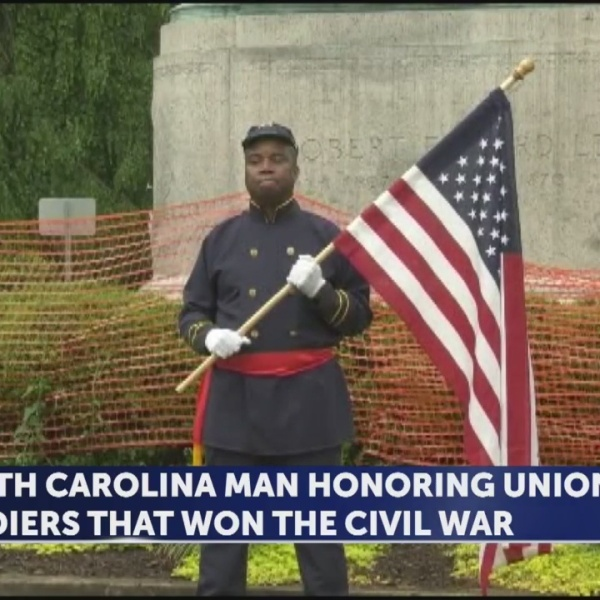 North Carolina man honoring union soldiers that won the civil war